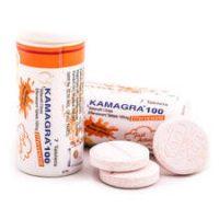 les flacons de Kamagra Effervescent 100 mg qui traite la dysfonction érectile
