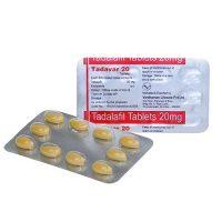 Un blister plein de pilule Tadavar 20 mg qui soigne la dysfonction érectile