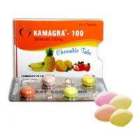un pauqet de Kamagra chewable 100 mg qui agit sur l'érection